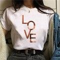 Футболка женская красивая одежда с геометрическим принтом в стиле 90-х Графический Harajuku футболка с изображением якоря Топы Футболка Милая ф...