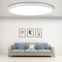 Luces de techo Led ultradelgadas para sala de estar y dormitorio, lámpara moderna de 220V, 20W, 30W, 50W