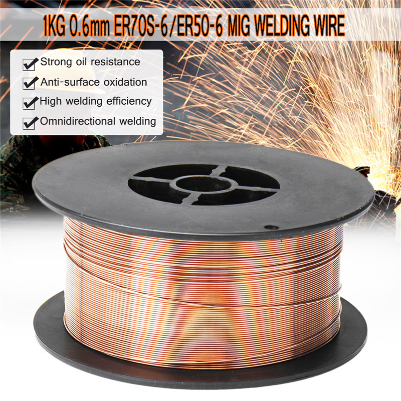 1 MIG Mild Carbon 1KG 1 0 Steel Steel 6 6 Shielded  0 0 9 Wires 0 6 Steel Carbon Welding ER70S Gas 2mm Welding Wire ER50 8