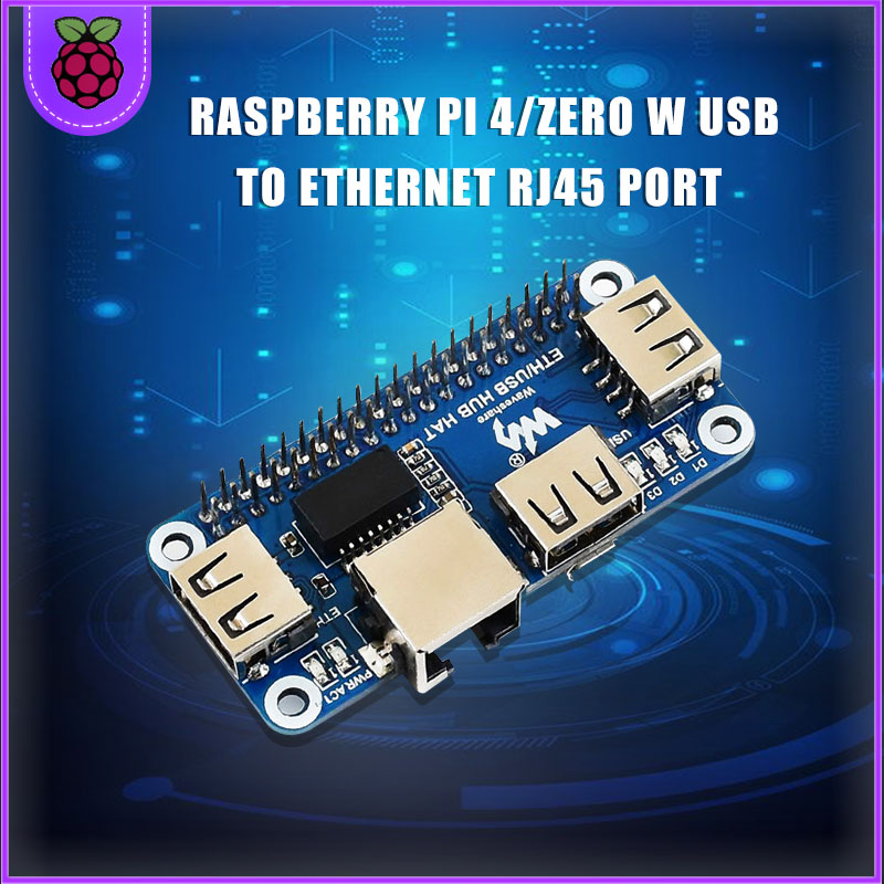 Raspberry PI 4/Zero W USB To Ethernet RJ45 Network Port USB HUB Splitter