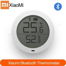 جديد وأصلي شاومي Mijia بلوتوث درجة الحرارة الرطوبة ميزان الحرارة الرقمي الرطوبة متر الاستشعار شاشة LCD الذكية مي المنزل APP