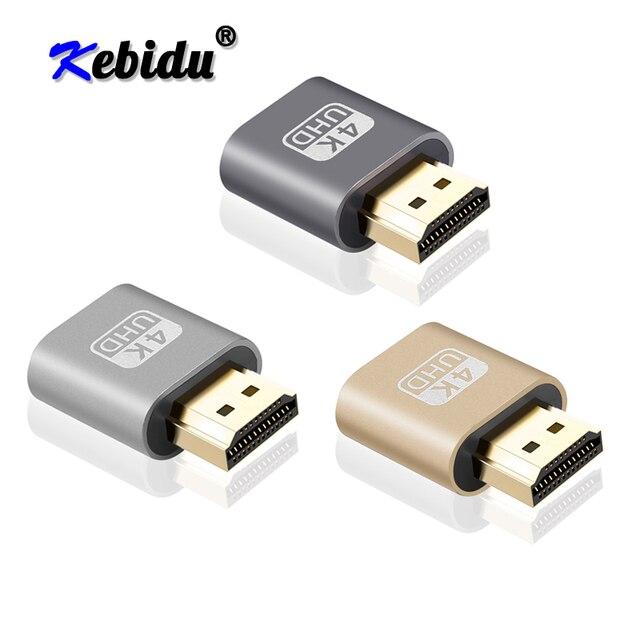Kebidu Mini VGA wirtualnych przejściówka do wyświetlacza HDMI DDC EDID Dummy wtyczka bezgłowy duch wyświetlacz Emulator blokada płyty do 1920x1080 @ 60Hz