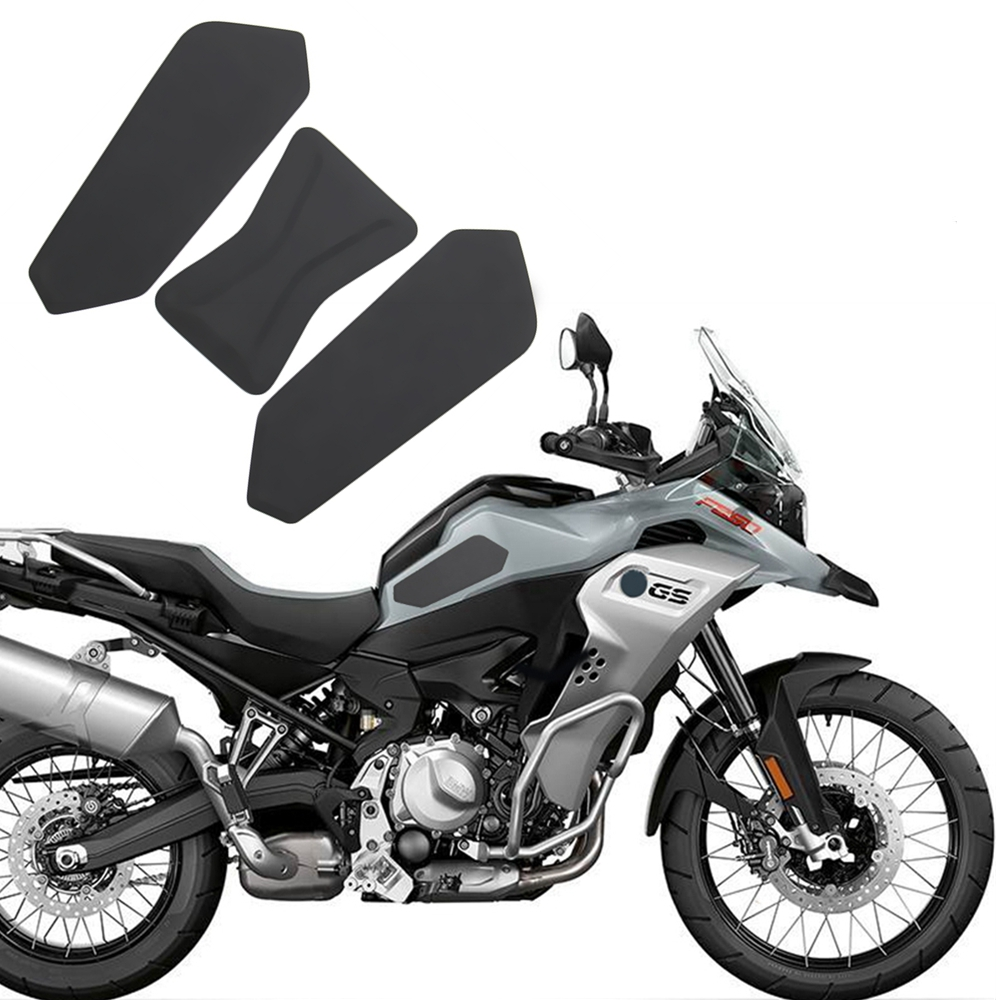 Motorcycle Rubber Tank Pads Anti-Slip Protective Fuel Tank Traction side Protector Mat for BMW F750GS F850GS 2017 2018 2019