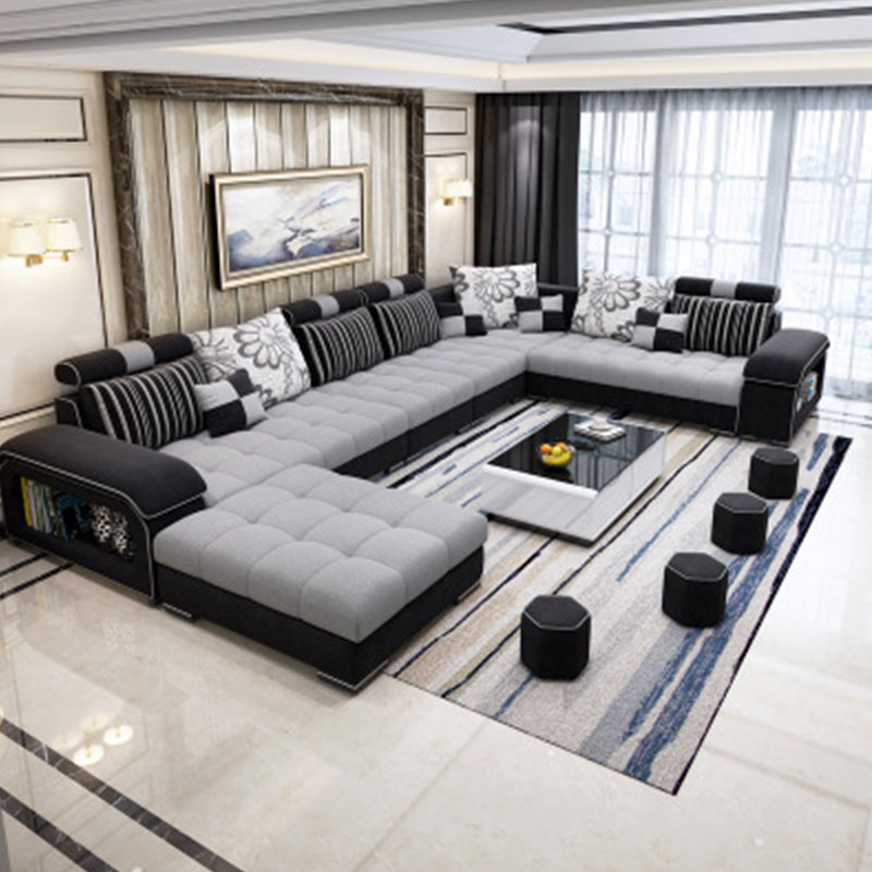 EZ home luxury Sofa Couch, Living Room Sofa Line Fabric Classic Modern Furniture Couches Living Room Sofas  - AliExpress