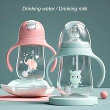 Dual-use Baby Bottle Water Bottle Kids Feeding Bottle Wide-C