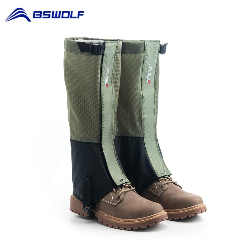 1 par ao ar livre caminhadas polainas neve legging polainas escalada esqui botas à prova dwaterproof água sapatos de viagem capa para homens