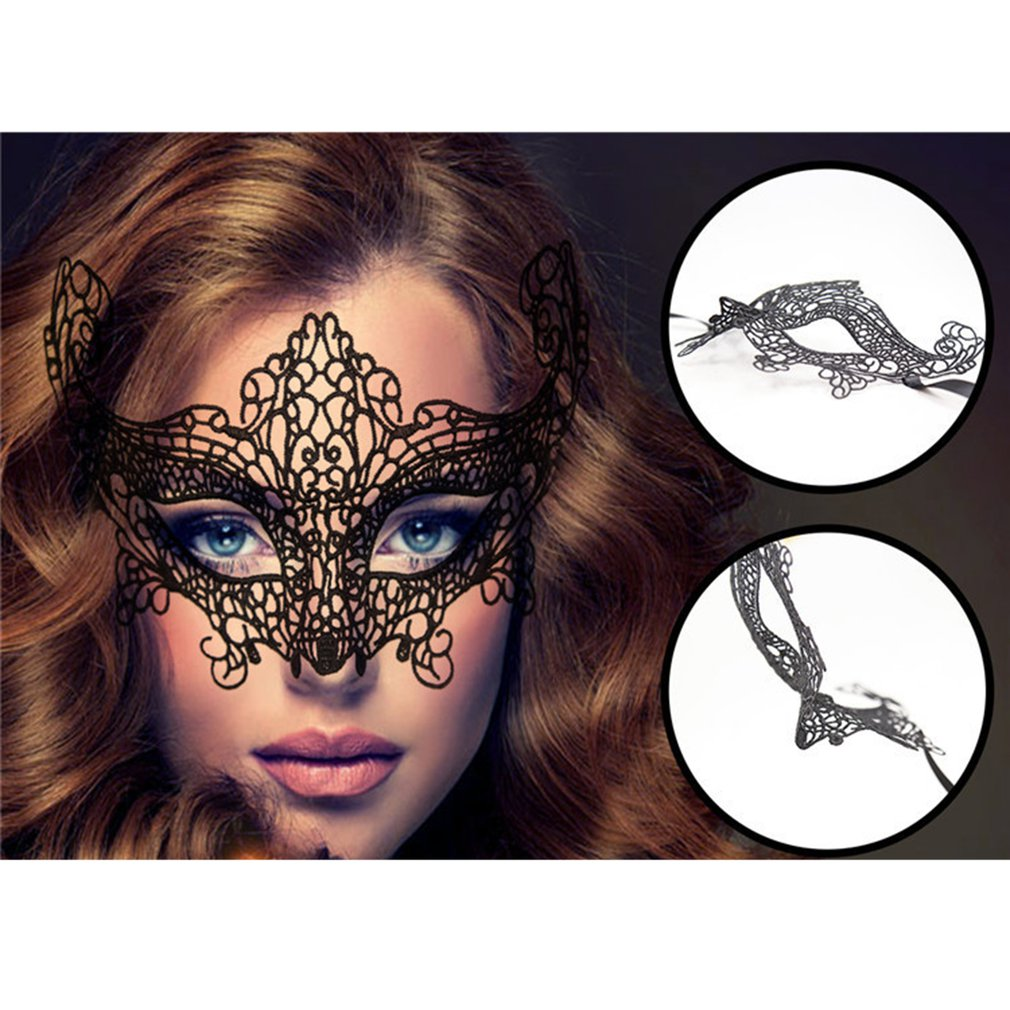 Fun Sexy Lace Eye Mask Party Masks For Masquerade <font><b>Halloween</b></font> Costumes Adult Supplies <font><b>Sex</b></font> <font><b>Toy</b></font> For Female Appeal accessories image