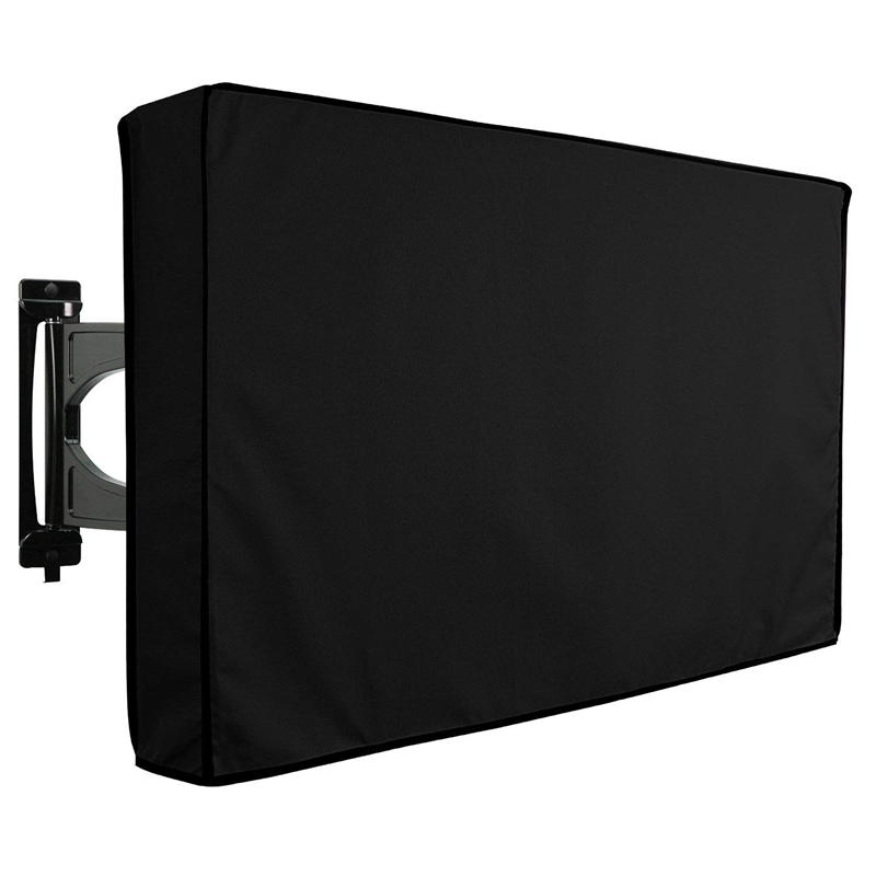 New Protable TV Cover Protector Outdoor Black Weatherproof Protector for LCD LED