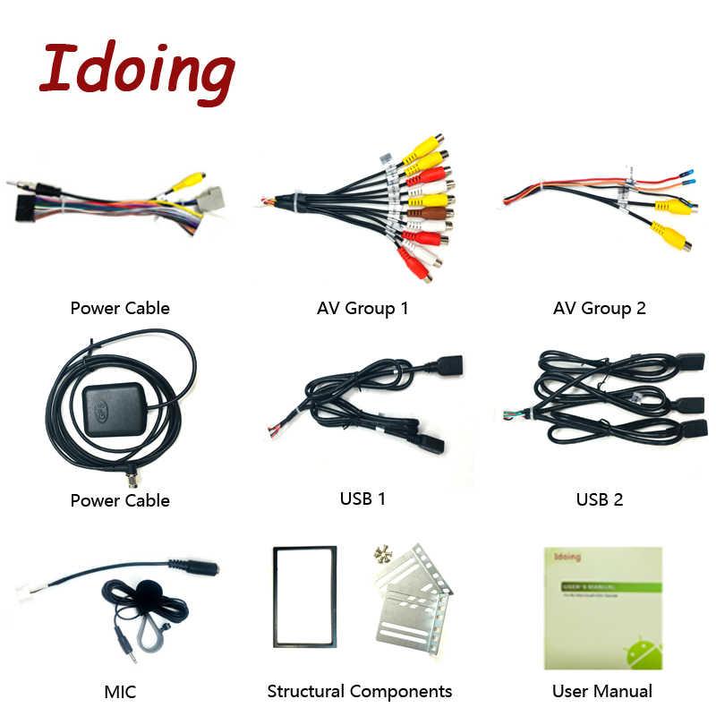 """Idoing 7 """"2 Din Universele Auto Android 9.0 Radio Multimedia Speler PX5 4G + 64G Octa Core gps-navigatie Ips Dsp Tda 7850 Geen Dvd"""