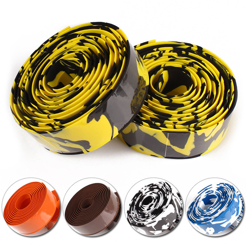 Road Bike Handlebar Belt Damping Dead Fly Bicycle Horns Belt With Bicycle  Cycling Handle Belt Camouflage Tape Strap Multicolor