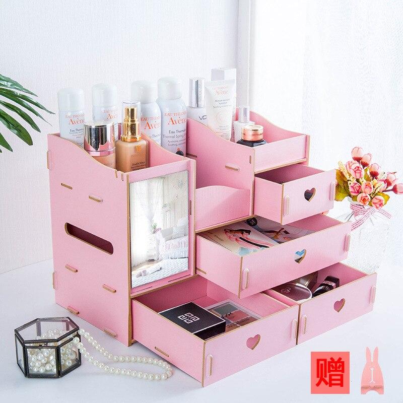 Shelf-Organizer Container-Boxes Mirror Storage-Box Jewelry Dresser Drawer Makeup Skin-Care