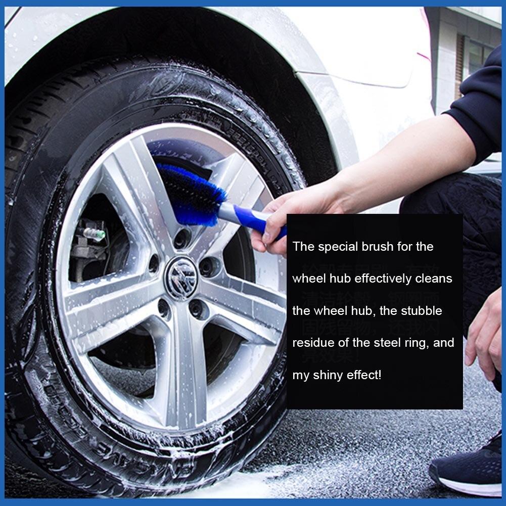 kit de 3/cepillos de rueda de coche/ /asa larga cepillo llantas Cepillo de neum/áticos mango corto cepillo de rueda para limpieza llantas coche moto o bicicleta cepillo especial para llantas