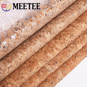 Meetee 90x140cm 0.5mm Pure Natural Cork Leather Fabric Wood Grain Cloth Soft Material for Background Shoes Handbag Decor Crafts(China)