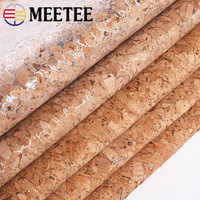 Meetee 90x140cm 0.5mm puro natural cortiça couro tecido de madeira grão pano material macio para sapatos de fundo bolsa decoração artesanato