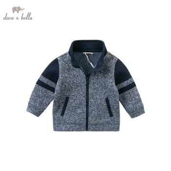 DB14586 dave bella autumn baby boys fashion patchwork zipper pockets coat children casual tops infant toddler outerwear image