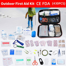 430 pces ao ar livre à prova dwaterproof água pessoa ou família kit de primeiros socorros para emergência de sobrevivência tratamento médico em viagem de acampamento ou caminhadas