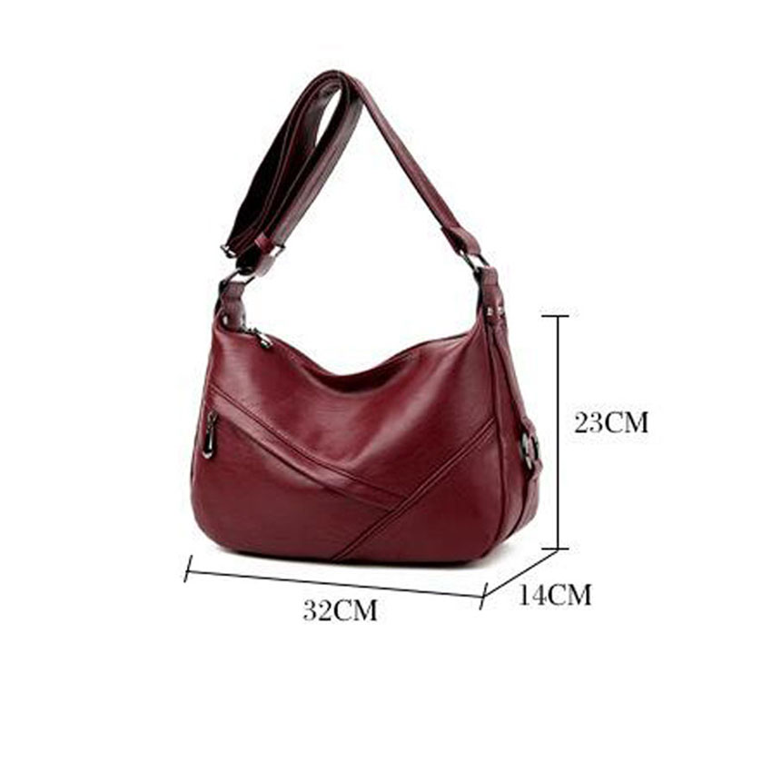 Women Leather Shoulder Bag High Quality Artificial Ladies Hobo Handbags Female Large Capacity Tote sac a main in Shoulder Bags from Luggage Bags