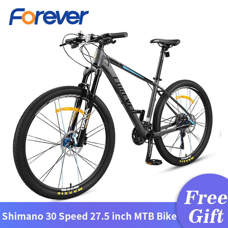 FOREVER New 30 Speed Bicycle Wire-controlled Locking Fork Change Wheel Hydraulic Disc Brake MTB Bike 27.5 Inch