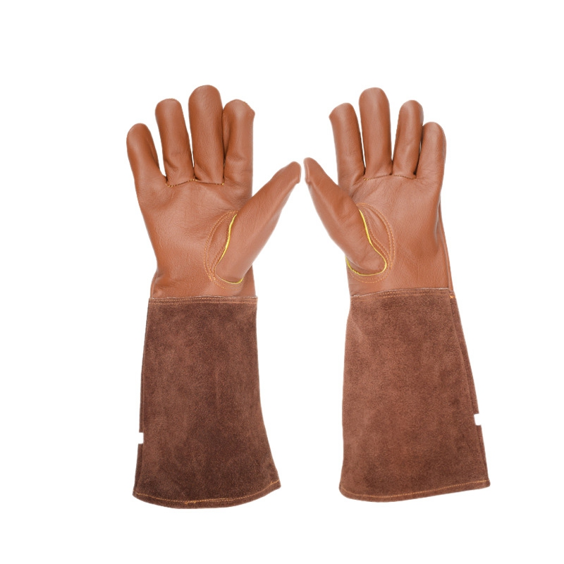 Rose Pruning Gloves For Men And Women Extra Long Breathable Goatskin Leather Thorn Proof Gardening Gauntlet Gloves-S