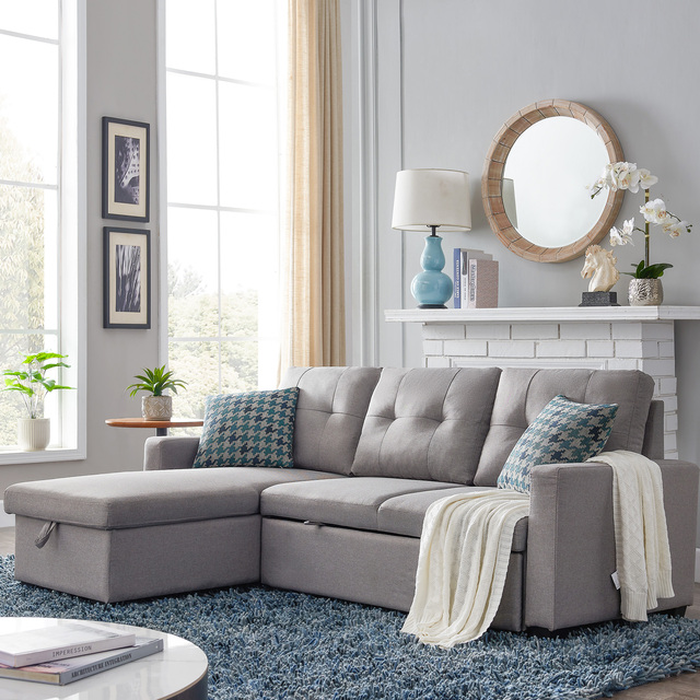 Sectional Sofa Corner Bed With Storage  3