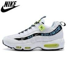 Nike air max 95 Autêntico tênis de corrida neon airmax los pacote todo o mundo yin yang preto triplo branco masculino sports