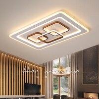 Novo moderno led luzes de teto para sala estar quarto estudo branco terminado casa interior lâmpada do teto luminárias 110 v 220 v