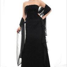 Дизайн, элегантное вечернее платье с открытыми плечами размера плюс, vestidos formales, длинное черное платье для матери невесты