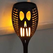 Outdoor Halloween Ghost Face Solar Flame Torch LED Lamp Lawn Light Garden Aisle Festival Decor(China)