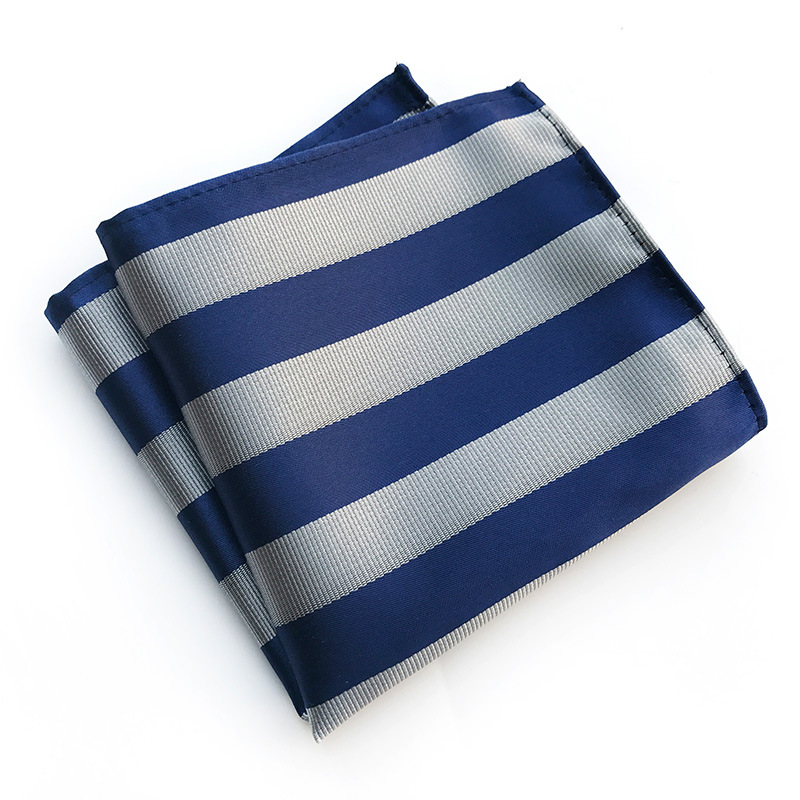 New Formal Business Striped Scarf Men's Wedding Suit Square Scarf Accessories Fashion Man' S Suit Dress Pocket Towel