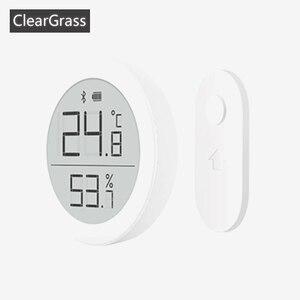 Image 1 - Youpin Qingping dijital Bluetooth termometre ve higrometre elektronik mürekkep ekran 30 gün veri otomatik kayıt ev uygulaması