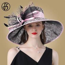 Chapéus de festa de chá de casamento das senhoras do fedora da pena do chapéu do purpe da igreja
