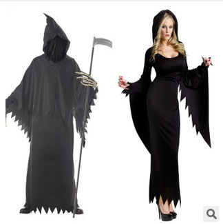 Halloween Devil Couple Clothes Night Roam Soul Ghost-Witch Formal Dress Men And Women-Game Clothing