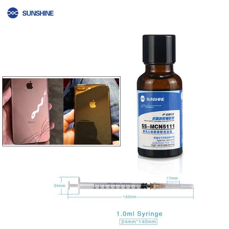 SS-MCN5111 20ML/bottle Back Cover Disassembly Auxiliary Liquid For IPhone 8/8P/X Glass Glue Remover Mobile Phone Repair