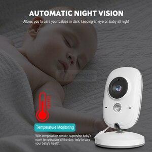 Image 5 - Wireless 2.0 inch Video Color Baby Monitor Security Camera Baby Nanny Intercom Night Vision Temperature Monitoring VB602