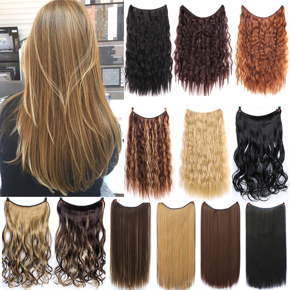 WEILAI Long Wavy Wigs For Women Hairstyle In Hair Extension Heat Resistant Synthetic False Hair Pieces Headwear Synthetic Wig 1