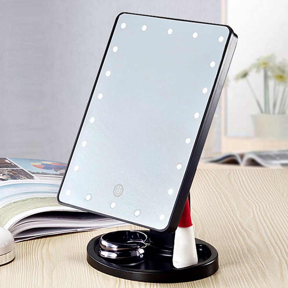 Beauty Cosmetic Make Up Illuminated Desktop Stand Mirror With 22 LED Light With Exquisite And Elegant Appearance