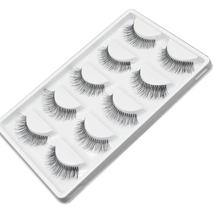 Image 3 - 5 Pairs Natural Black Long Sparse Cross False Eyelashes Fake Eye Lashes Extensions Makeup Tools