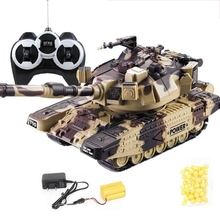 Remote-Control-Toy Battle-Tank RC Military Large War 1:32 Car-Dropship Interactive Heavy