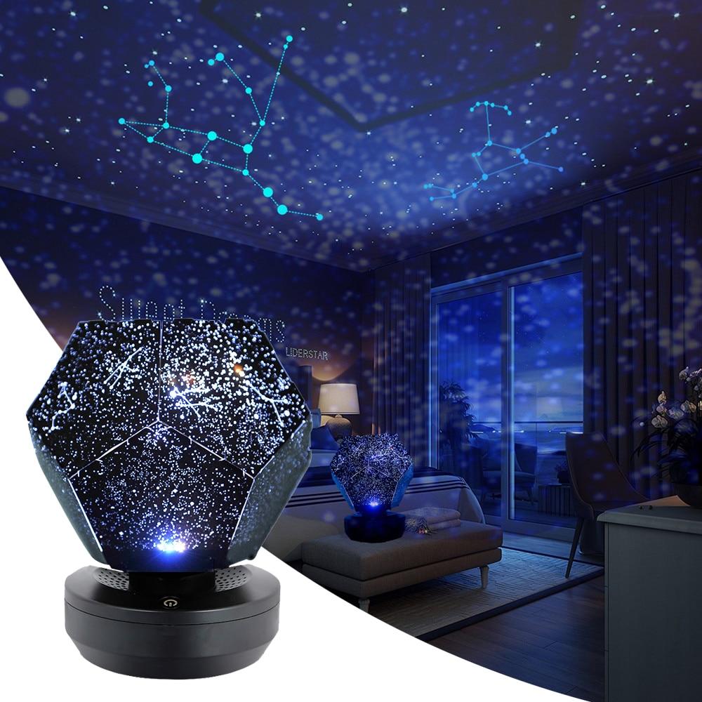 DIY Star Projector Galaxy Light Star Sky Lamp Night Light Led Table Lamp Lite Starlight Nightlight Skylight Children Kids Gift
