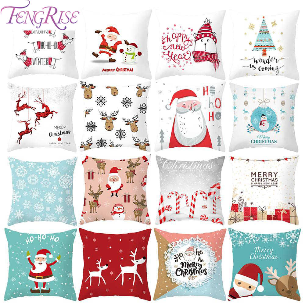 2019 Christmas Pillowcase Ornament Christmas Decoration For Home Room Noel Navidad Cristmas Decor Home Happy New Year Gift 2020