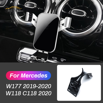 Car Mobile Phone Holder For Mercedes Benz A Class W177 A180 A200 Sedan 2019 2020 CLA 2020 Air Vent GPS Stand Navigation Bracket image