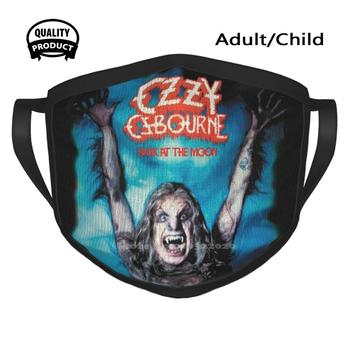 Bark At The Moon Winter Spring Print Mouth Mask Ozzy Of Madman Hard Hotter Tha Hell 70S 80S Hair Metal Glam Metal Heavy Metal image