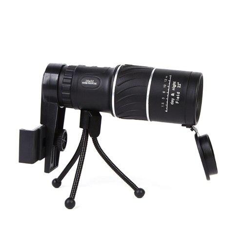 Profissional de Alta Mira de Identificação Telescópio Monocular Potência Militar Visão Noturna Zoom Óptico Espátula Caça 16×52