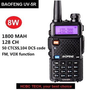 Baofeng UV-5R 8W Walkie Talkie Portable CB Ham Radio Amateur 10KM UHF VHF Scanner Radio FM Transceiver UV5R UV 5R for Hunting