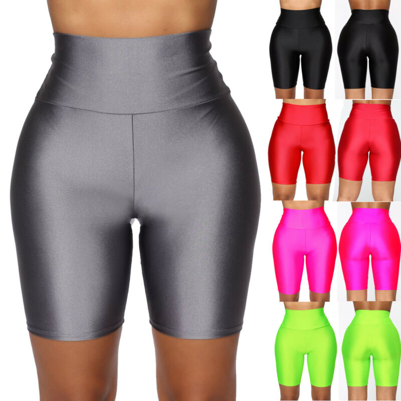 Women's Casual Fitness Yoga Push-up Shorts Gym Running Stretch Sports Shorts