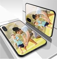 DIY vidrio templado funda para teléfono para iphone X XR XS Max de cubierta para iPHONE 12 Mini 11 Pro Max 8 7S 7 7 6S 6 Plus SE 2020 Coque