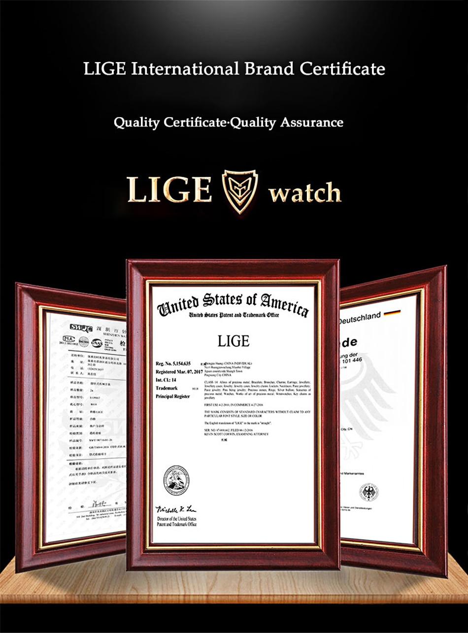 Смарт часы lige женские с пульсометром и защитой класса ip67