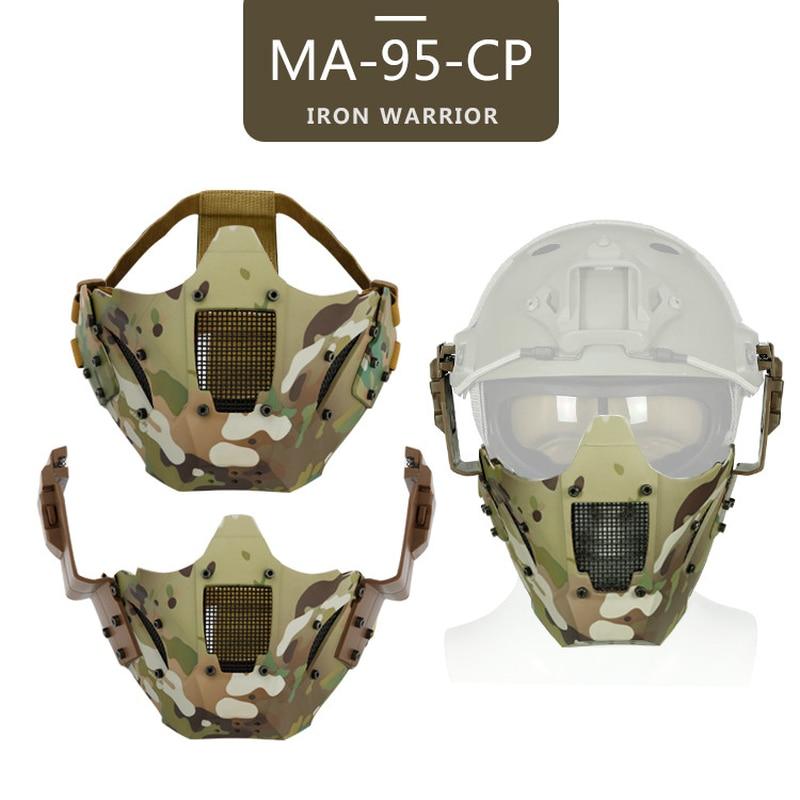 Airsoft Paintball Hunting Mask Tactical Combat Half Face Multicam Shooting Mask Military War Game Protective Combat Cs Masks