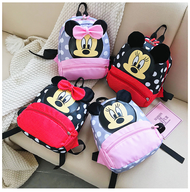 Hot Sale Mickey School Bag Minnie For Boys Girls Baby Bag Children Backpack Kindergarten Backpack Kid School Bags Satchel