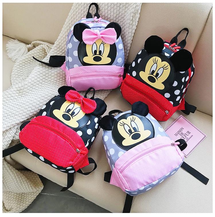 Hot Sale Mickey School Bag Minnie For Boys Girls Baby Bag Children Backpack Kindergarten Backpack Kid School Bags Satchel